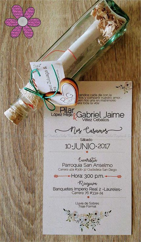 Natalia Calao Tarjetas de Invitación