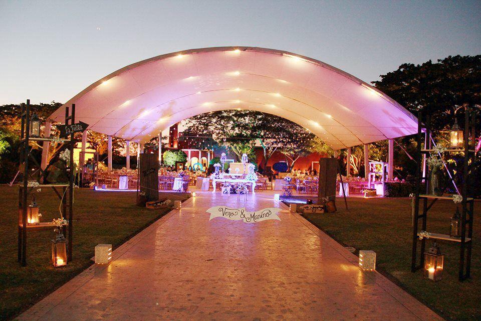 Esta decoración hace lucir aun más hermosa la Hacienda San Diego Tixcacal.