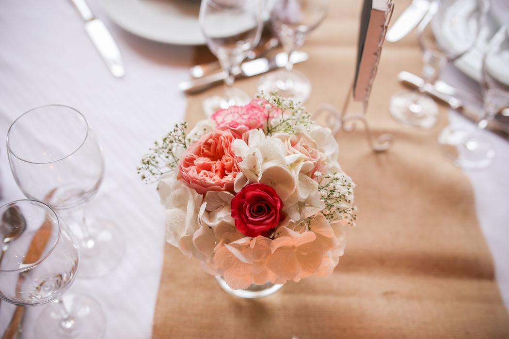 Petit bouquet en centre de table