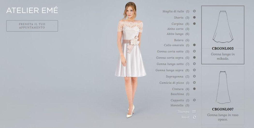 linea Combinabili - Crea il tuo abito