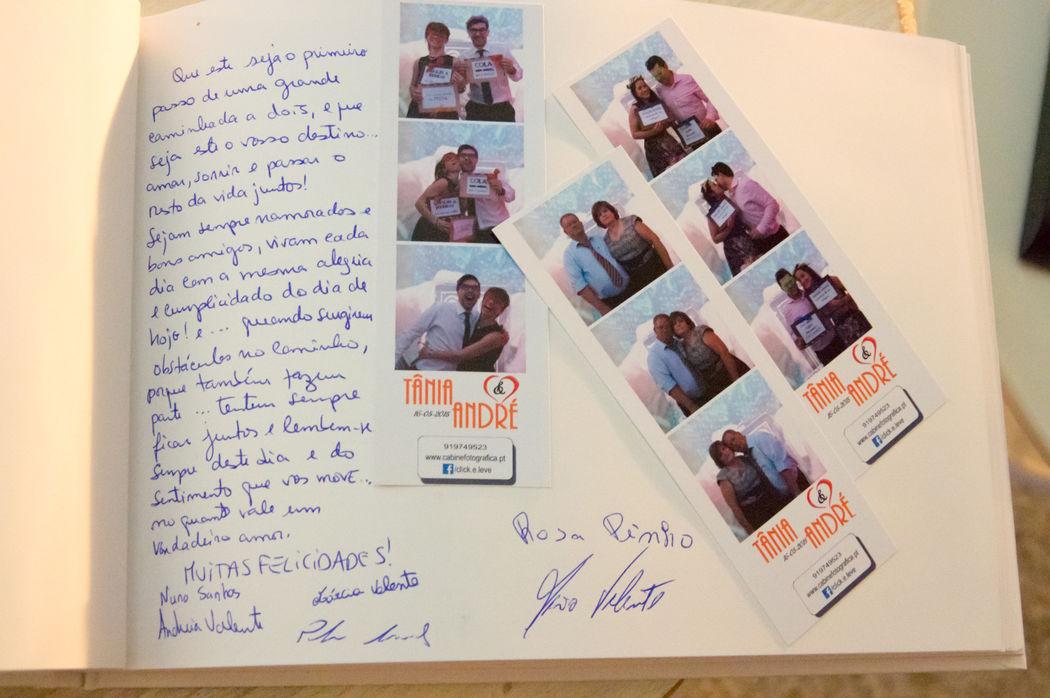 Livro de Honra preenchido com as nossas Photos da Wedding Photobooth