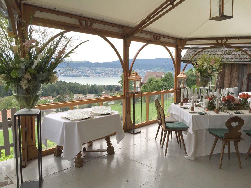 Hochzeitsfeier im Restaurant Buech Herrliberg vom 19. August 2016