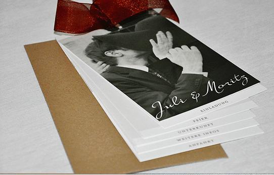 Beispiel: Drucksachen zur Hochzeit, Foto: Ephemeres FEINE DRUCKSACHEN.