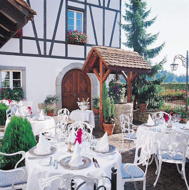 Beispiel: Garten, Foto: Landgasthof zu den Drei Sternen.