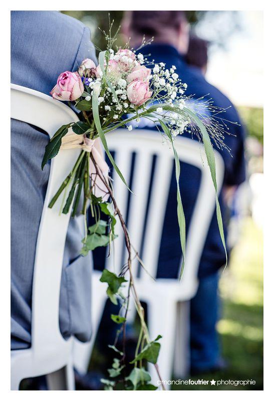 Au Jardin d'Egly - blanc d'église - décoration cérémonie laïque rose gypsophile
