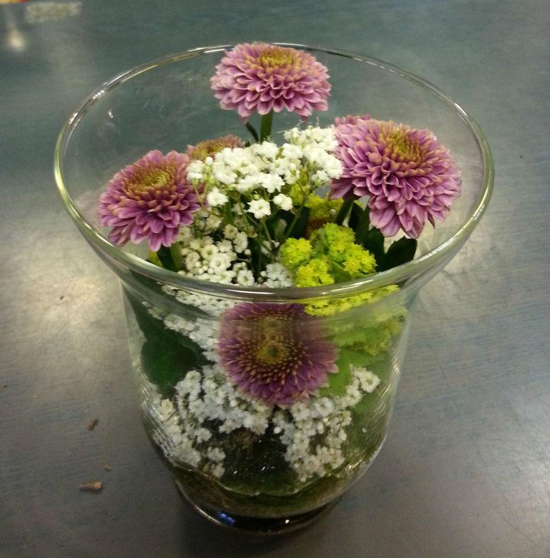 Beispiel: Dekoration Ihrer Hochzeitsfeier, Foto: Blumen Reichert.