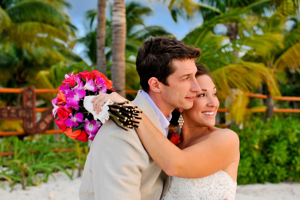 Beautyweddings Sunset Wedding at Isla Mujeres