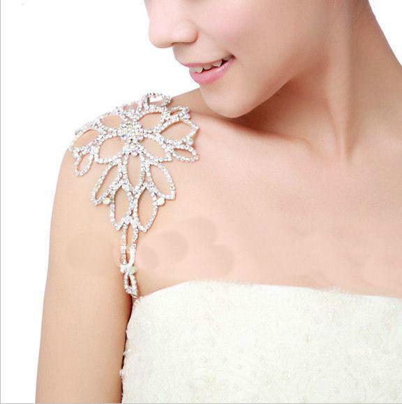 Bracelet mariage bijou épaule tout cristal Sheherazade