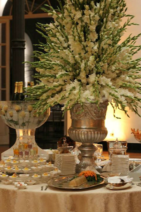 Boda en el MALI - Mesa de champagne