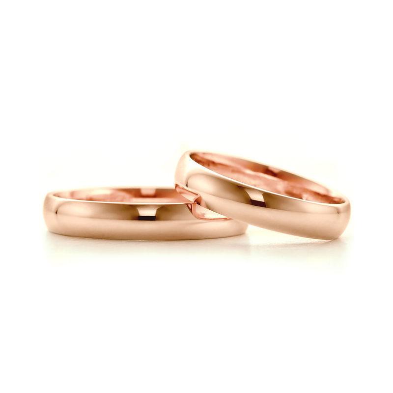 Obrączki z różowego złota