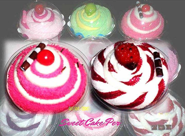 Sweet Cake Perú-cupcake de toallas 30x30cm