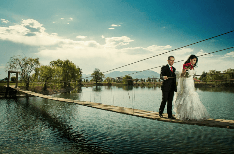 Sesión de fotografía de boda en pareja. Foto Alex Mendoza