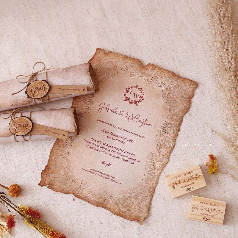 CHIC no Último Convites - Casamento Rústico