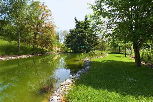 Beispiel: Schwimmteich, Foto: Bergwerksilo Herznach