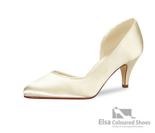 Beispiel: Schlichter Brautschuh der Marke Elsa Coloured Shoes, Foto: Edelweiss Boutique.