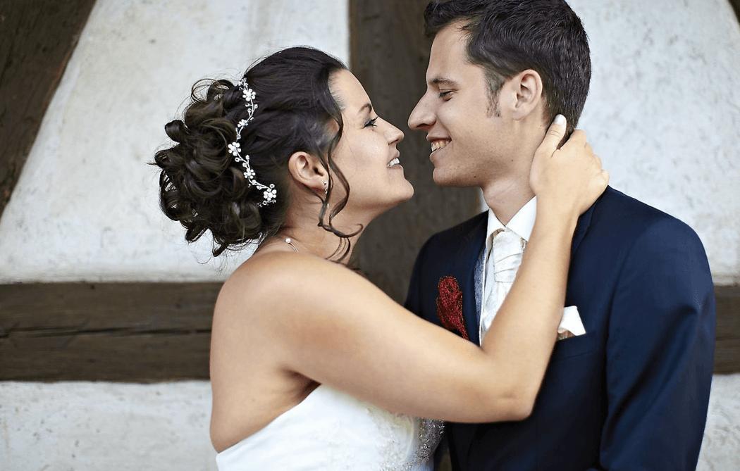 Beispiel: Brautpaar, Foto: Kloc Make-up.