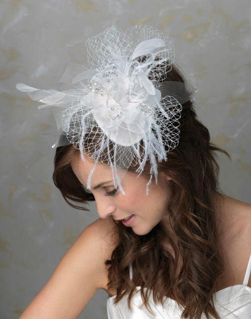 Beispiel: Haargestecke mit Netzschleier, Foto: Bigis Schatzkiste.