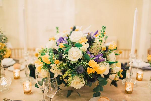 Decoração floral estilo clássico