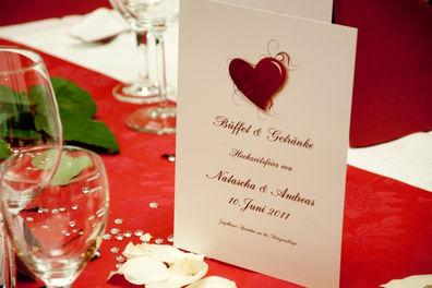 Beispiel: Romantische Tischdekoration, Foto: Jagdhaus Spandau.