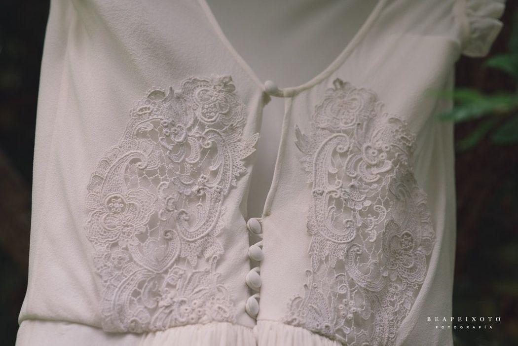 Vestido novia Pilar Bande Atelier. Fotografía: Bea Peixoto