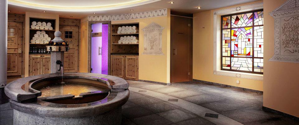 Beispiel: Sauna, Foto: Badrutt's Palace Hotel.
