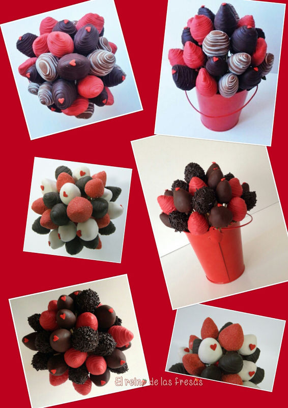 Bouquets de fresas con chocolate