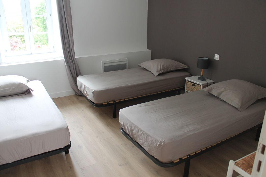 L'un des trois chambres simples