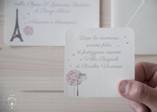 Partecipazione di un matrimonio tema parigino