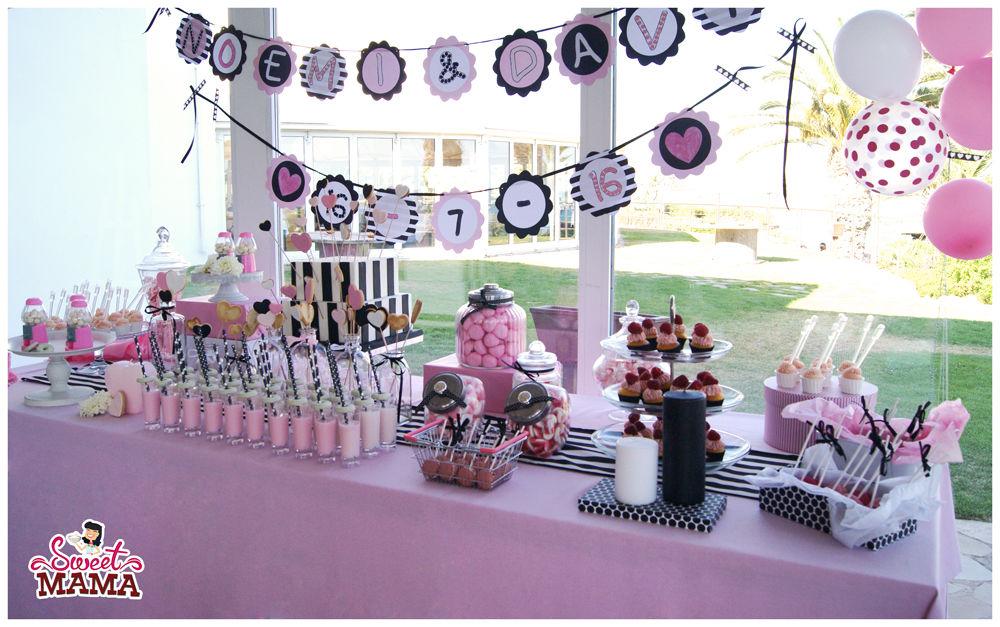Mesa dulce Pink & Black.
