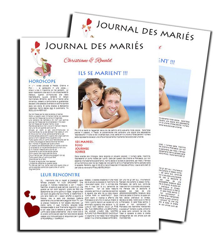Journal des mariés http://www.livret-mariage.fr/la-gazette-des-maries.html