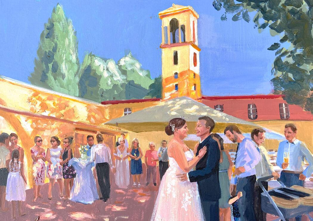 Hochzeitsmalerei Elisabeth Gecius