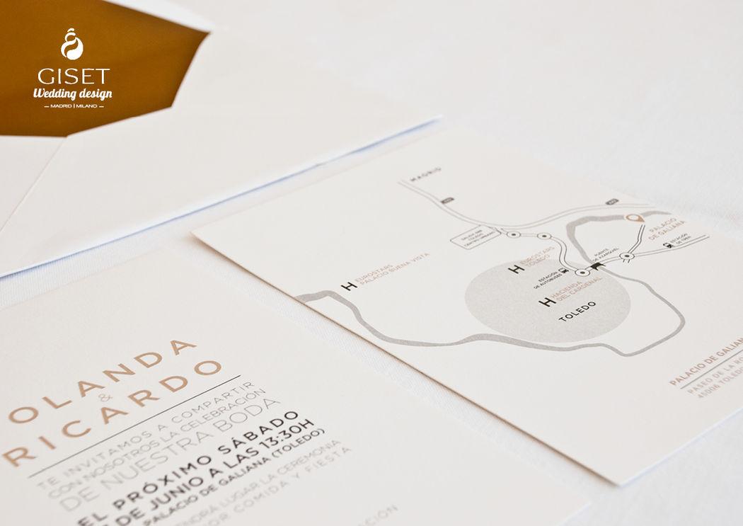 Invitaciones minimalistas en papel algodón