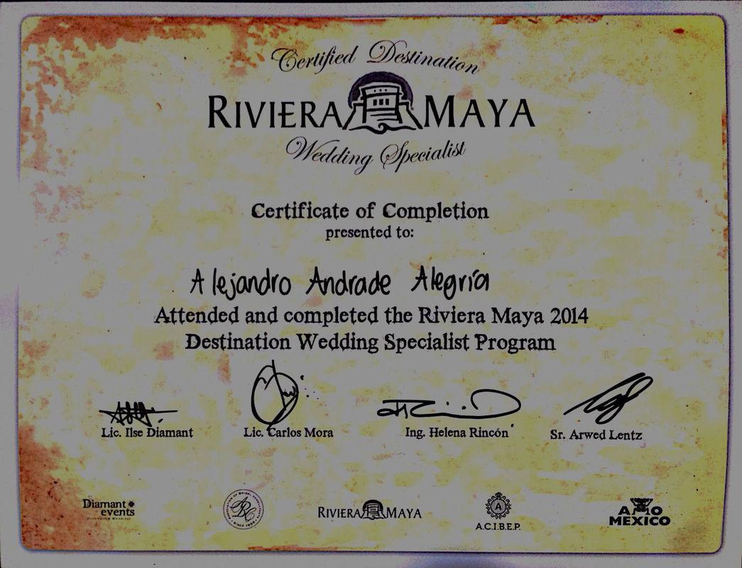 CERTIFICACION WEDDING SPECIALIST RIVIERA MAYA