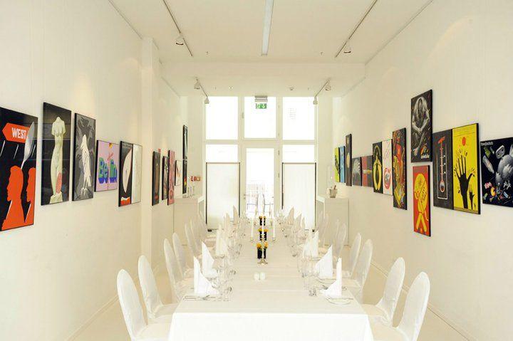 Beispiel: Festtagstafel in der Galerie, Foto: Ellington Hotel.