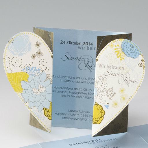 Beispiel: Einladung zur Hochzeit, Foto: einladungskarten4you.