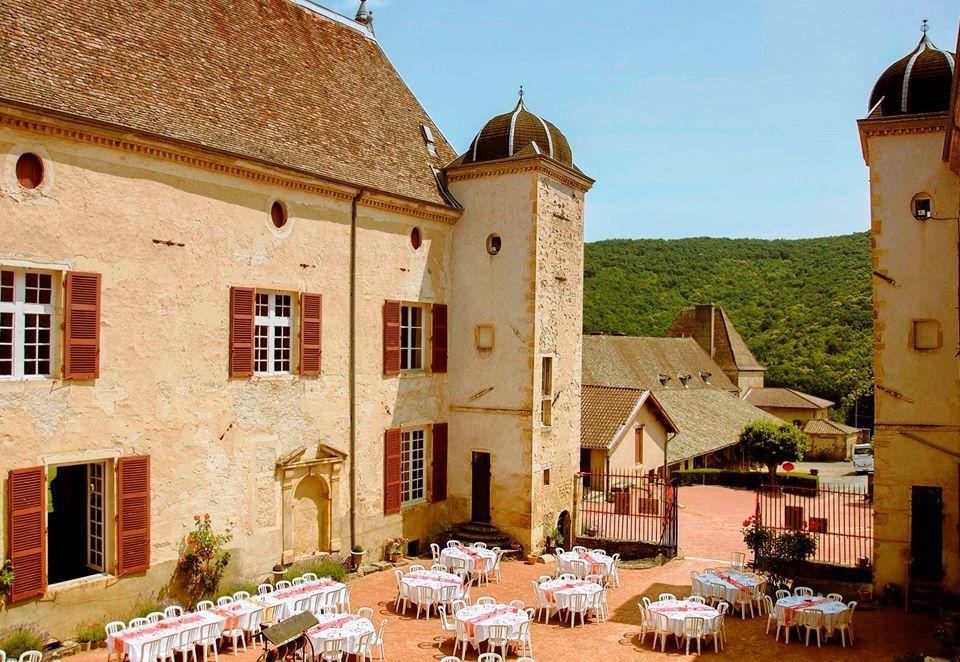 Le château de Varennes, cour