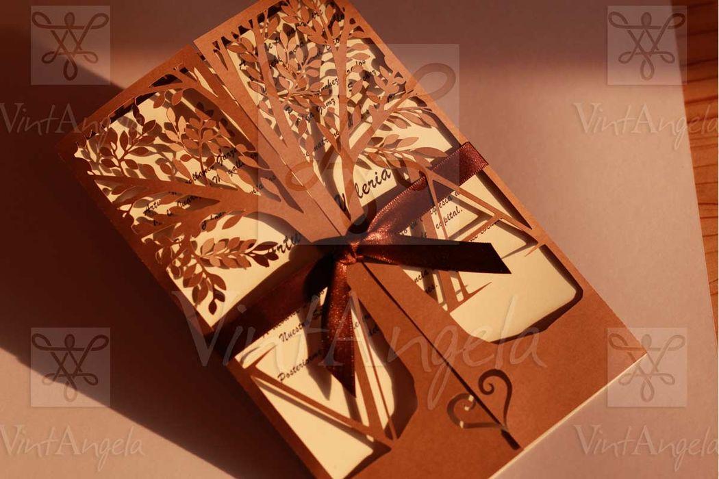Vintangela: Invitaciones de bodas te presenta este modelo de arbol de amor, ubicados en Cuernavaca pero envian a todo el país.