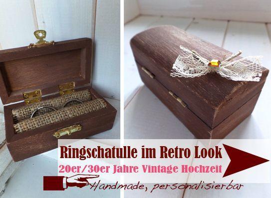 handgefertigte Ringschatullen im Retro Look - LoveLi Hochzeitsplanung Onlineshop