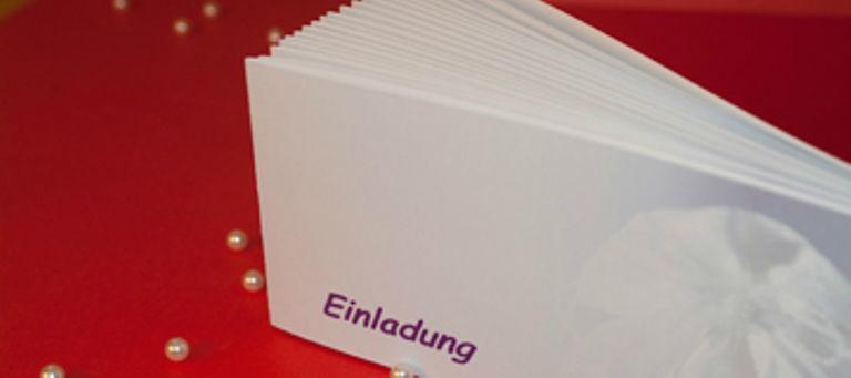 Beispiel: Ihre persönlichen Hochzeitseinladungen, Foto: Schobuk.