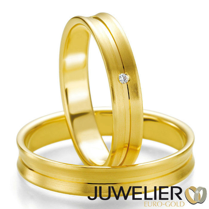 Beispiel: Trauringe - Gelbgold, Foto: Juwelier Euro-Gold.
