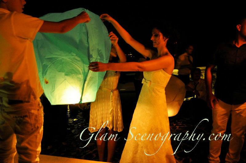 Lanterne volanti. Glam Scenography