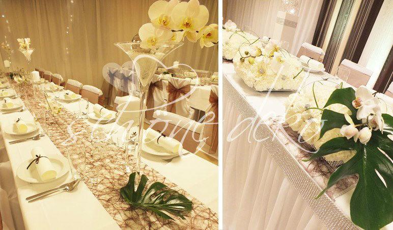 Beispiel: Dekoration des Brauttisches, Foto: Schöne Deko.