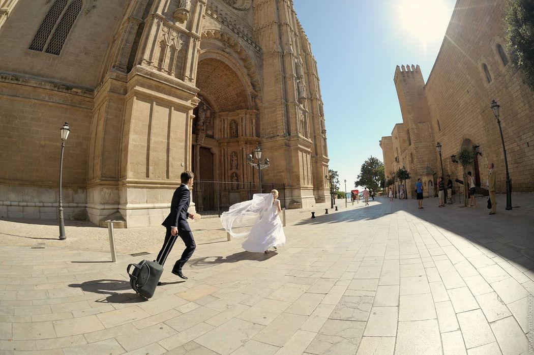 novia escondida en Palma de Mallorca