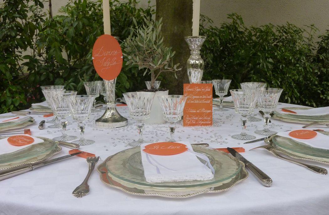 Menu,nom table,marque-place Plexiglas calligraphiés 15cm/10cm, 10cm/5cm
