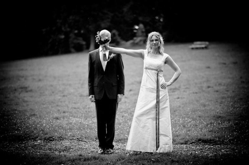 Beispiel: Hochzeitsfotos in Schwarz-Weiß, Foto: Fotomanufaktur Wessel.