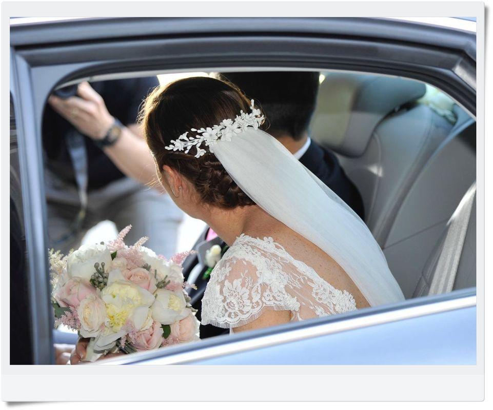tocado porcelana para novia