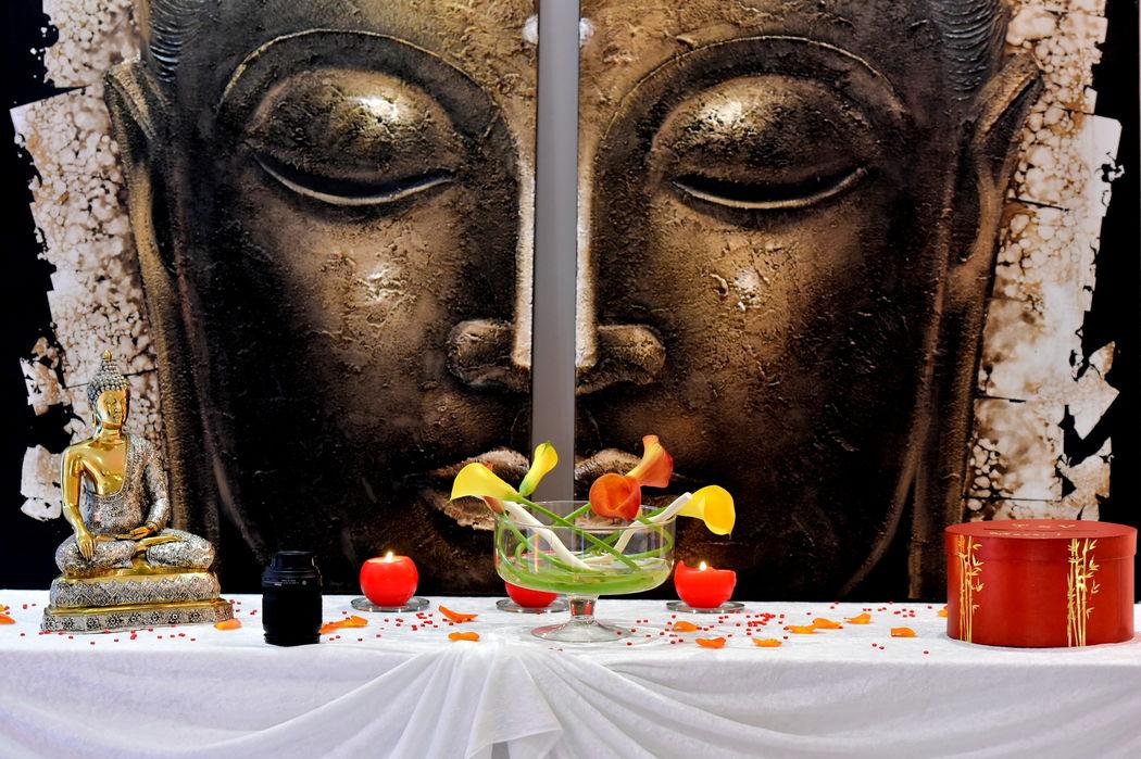 Mariage thème Thaïlande : table de l'urne