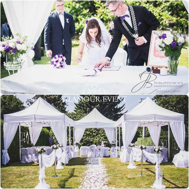 Piękny ślub plenerowy w stylu klasycznym. fot. Jacek Blaumann