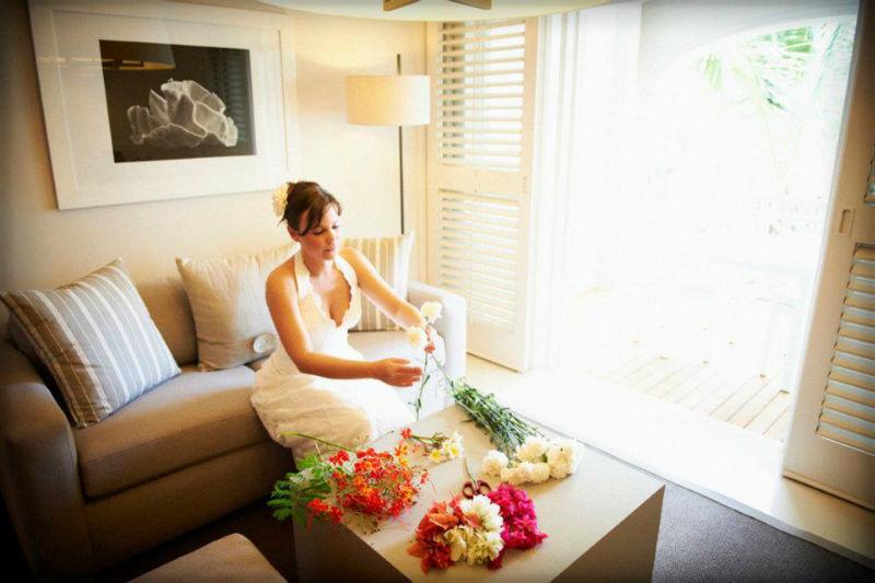 Beispiel: Braut bei Vorbereitungen, Foto: LUX*Resorts.