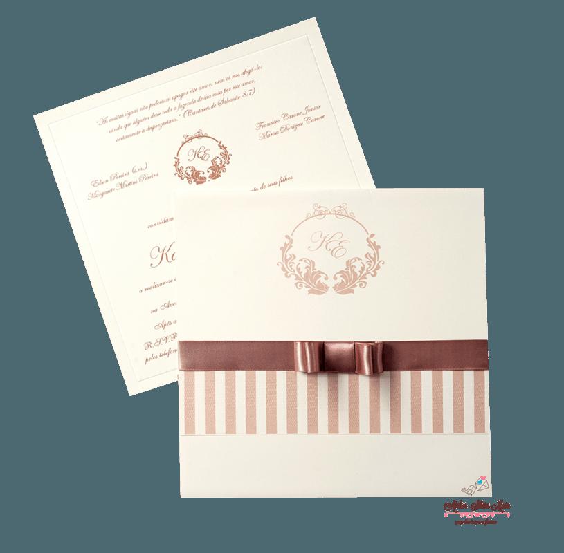 Convite Tradicional - Ref. CS. 0164